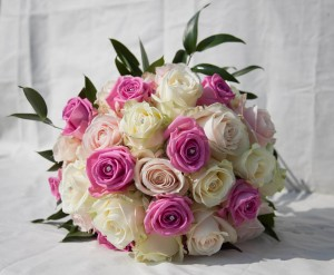 Farm shop in surrey fresh fruits vegetables meat flowers and pink white rose wedding bouquet mightylinksfo