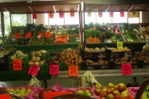 Broad selection of produce