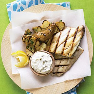 Grilled Fish and Chips - BBQ Week | The Farm Shop Lyne, Chertsey