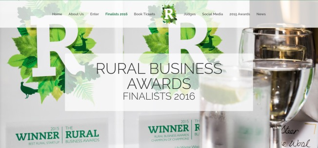 We're Finalist for The Rural Business Awards 2016