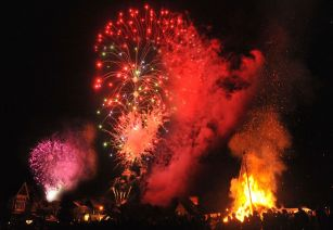 Fireworks for Bonfire Night at The Farm Shop Lyne Chertsey