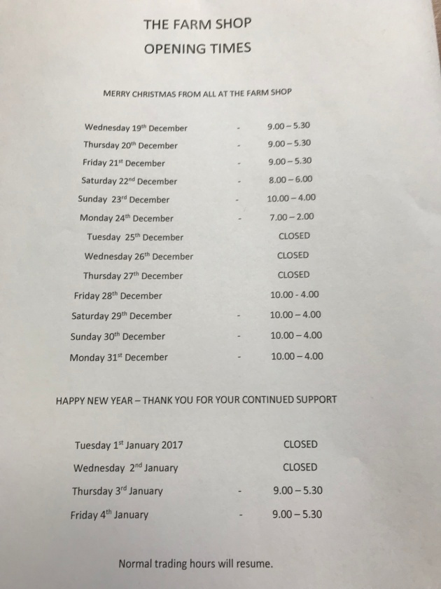 Christmas Opening Times 18